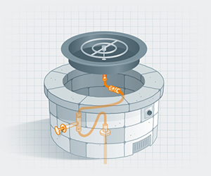 fire pit fittings illustration