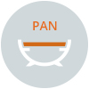fire pit pan shape illustration
