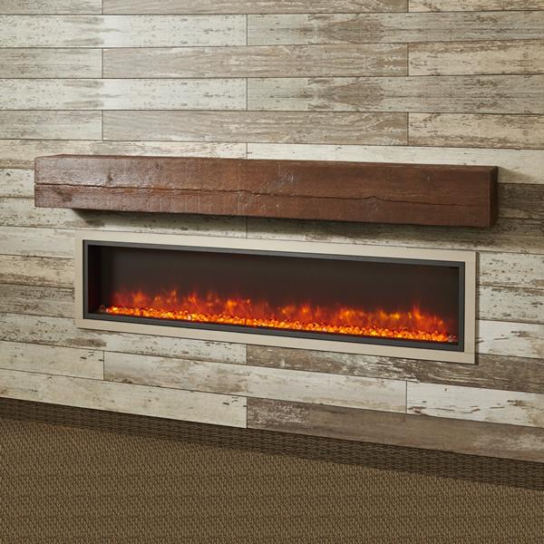 Outdoor fireplace mantel shelf