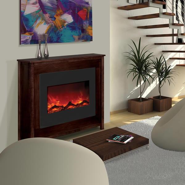 Amantii 30 Zero Clearance Electric Fireplace Espresso Mantle