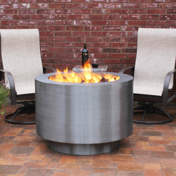 Arco Fia Stainless Steel Gas Fire Pit