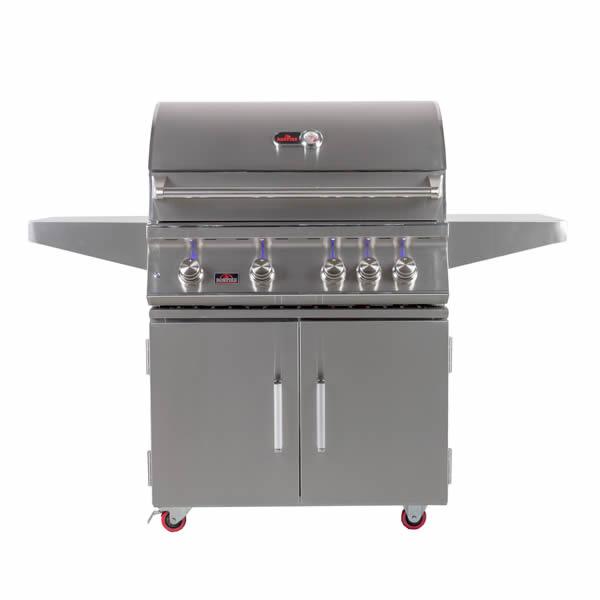 Bonfire Premium 4 Double Door Cart Gas Grill 34 Woodlanddirect Grilling Grills