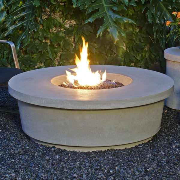 Contempo Round Gas Fire Pit Table American Fyre Designs Woodlanddirect Com