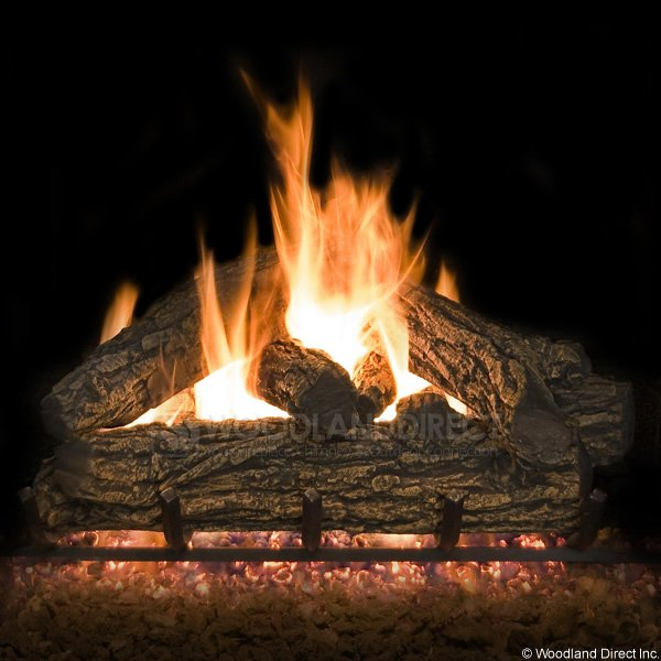 Country Oak Vented Gas Logs Only
