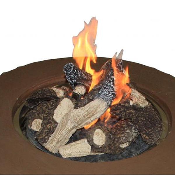 Crystal Fire Pit Optional Logs Woodlanddirect Com Log Sets Gas
