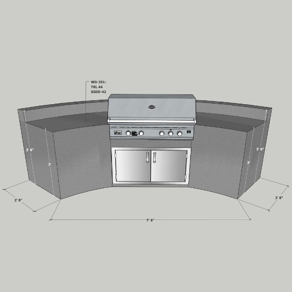 EOK Outdoor Curved Island