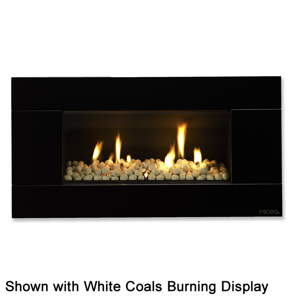 Escea ST900 Indoor Gas Fireplace with Satin Black Fascia ...