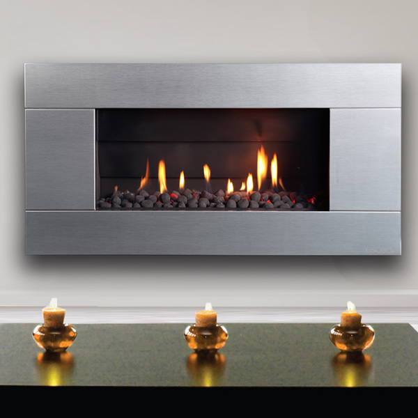 Escea ST900 Indoor Gas Fireplace with Stainless Steel Fascia