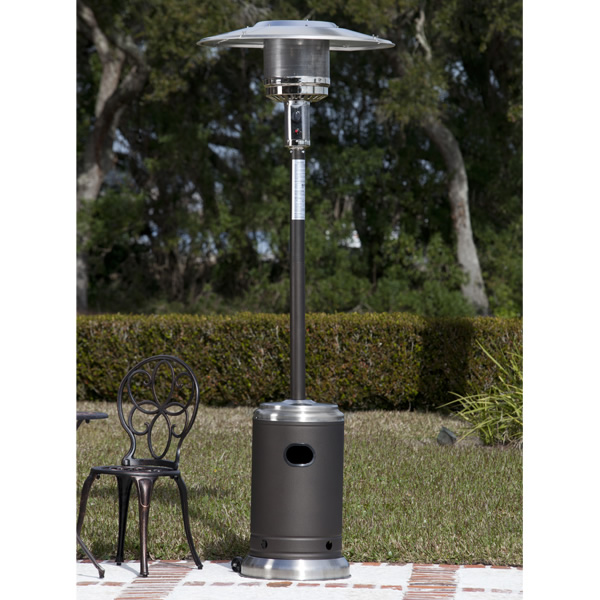 Charmant Fire Sense Commercial Patio Heater   Mocha/Stainless Steel |  WoodlandDirect.com: Patio Heaters