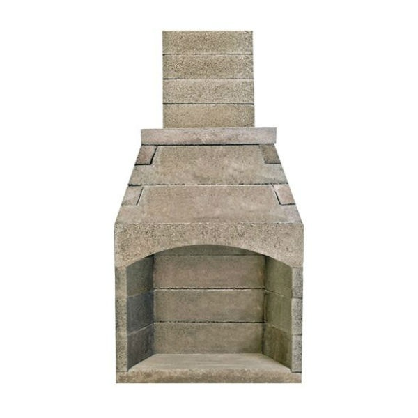 Pre Engineered Arched Masonry Wood Burning Outdoor Fireplace 36