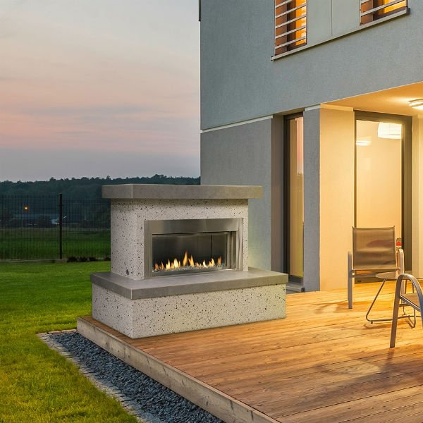 Flamecraft Contemporary Outdoor Gas Fireplace