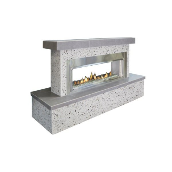 Flamecraft Contemporary See Through Outdoor Fireplace Lp
