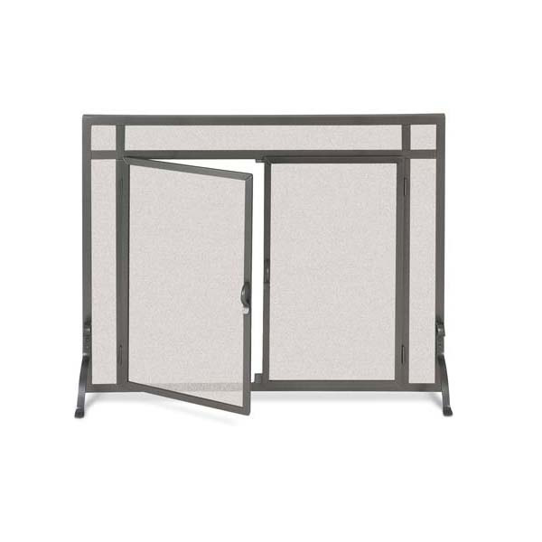 Forged Iron Fireplace Screen With Doors 44 X 33 Pilgrim