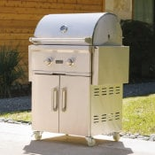 gas grill burners with blue flames