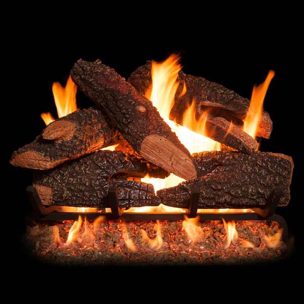 Golden Blount Texas Bonfire See Through Vented Gas Log Set