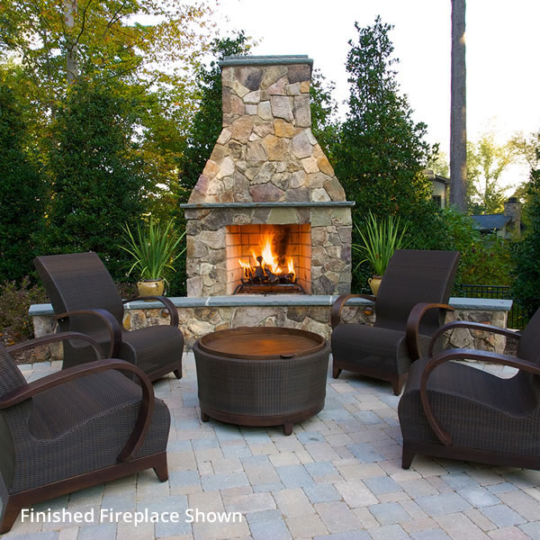 Isokern Standard Outdoor Fireplace 46 Woodlanddirect Com
