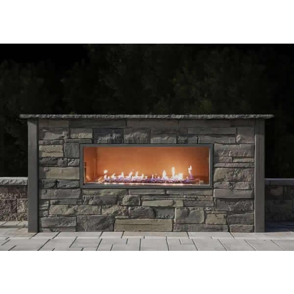 Kalea Bay Outdoor Linear Gas Fireplace Firegear Woodlanddirect