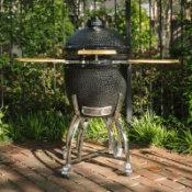 portable outdoor ceramic tabletop grill