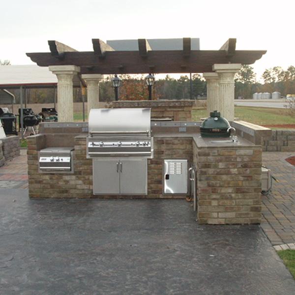 Lexington L Shaped Custom Outdoor Kitchen Woodlanddirect