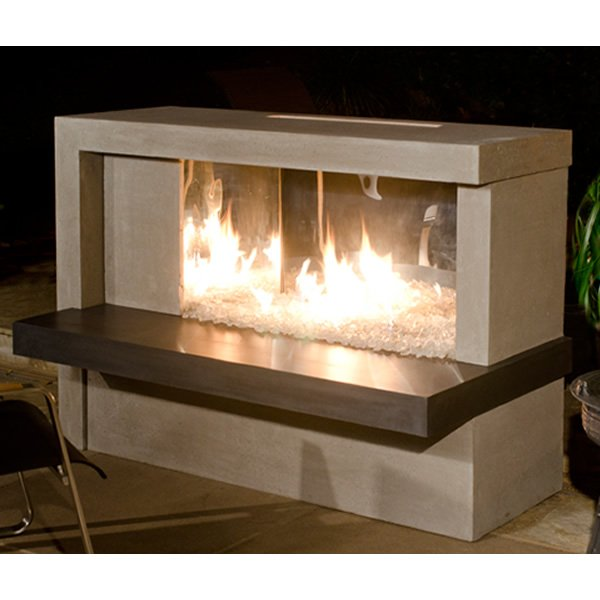 Manhattan Linear Outdoor Gas Fireplace American Fyre Designs