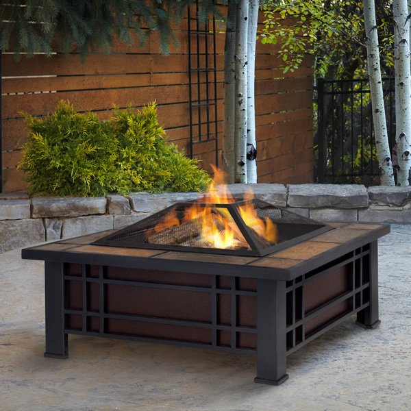 Real Flame Morrison Wood Burning Fire Pit Woodlanddirect