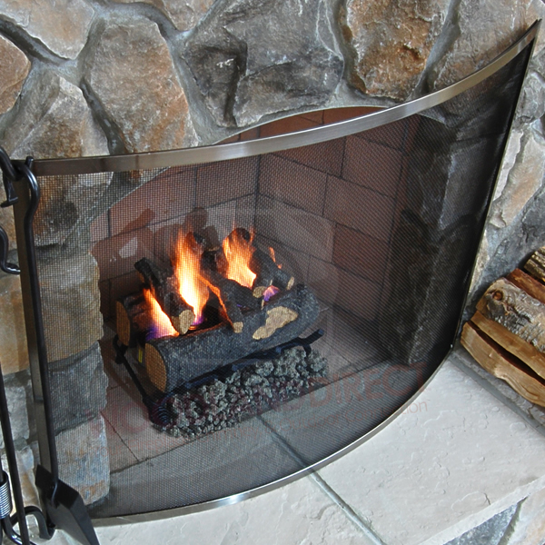 uniflame fireplace screen brass olde world bowed fireplace screen pewter woodlanddirectcom screens uniflame woodlanddirectcom