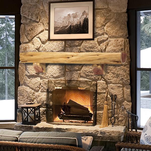 Pearl Cedar Log Shelf Fireplace Mantel Shelf Pearl Mantels
