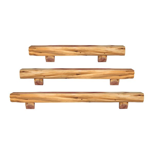 Outdoor fireplace mantel shelves
