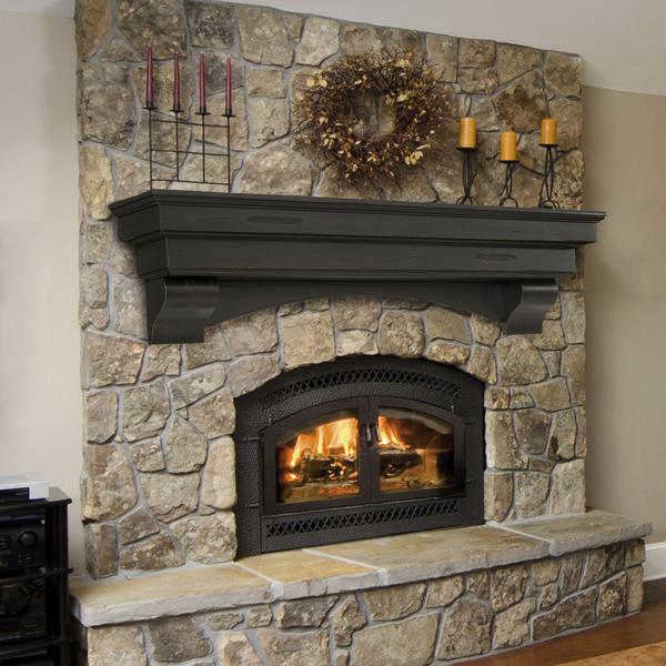 Pearl Celeste Espresso Fireplace Mantel Shelf Mantels Woodlanddirect