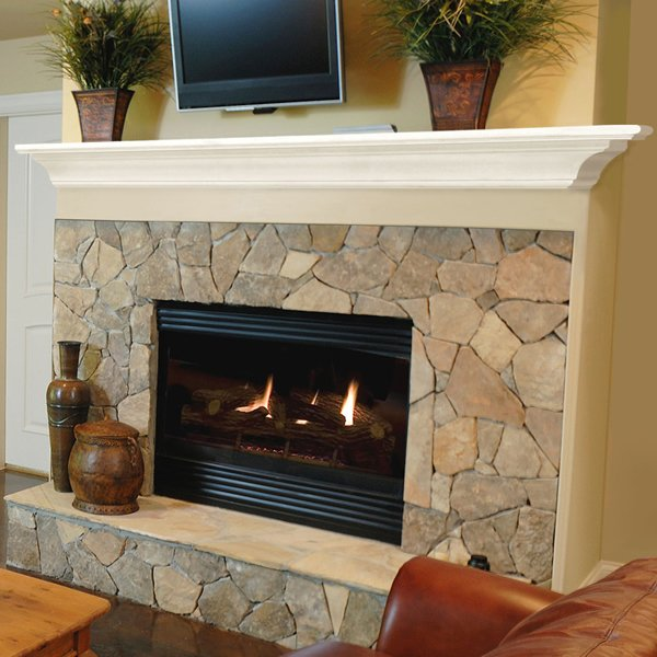 Pearl Crestwood White Fireplace Mantel Shelf Woodland Direct