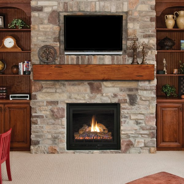 Pearl Lexington Rustic Fireplace Mantel Shelf