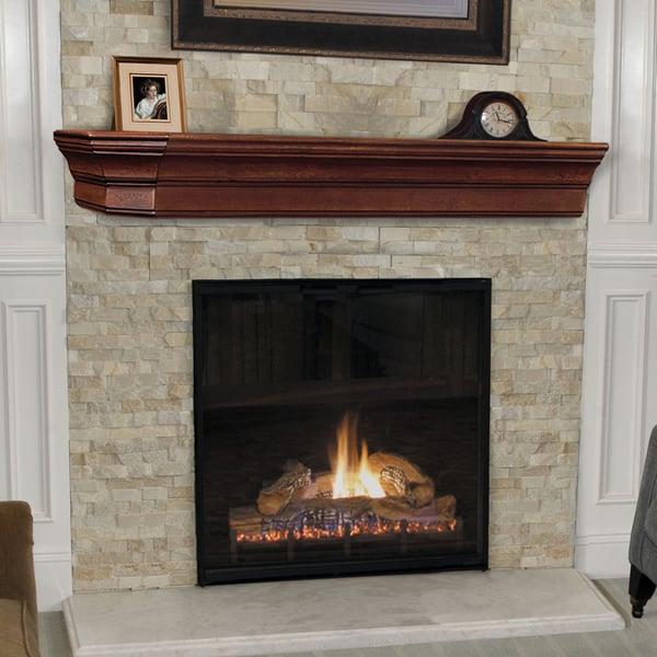 Pearl Lindon Cherry Distressed Fireplace Mantel Shelf ...