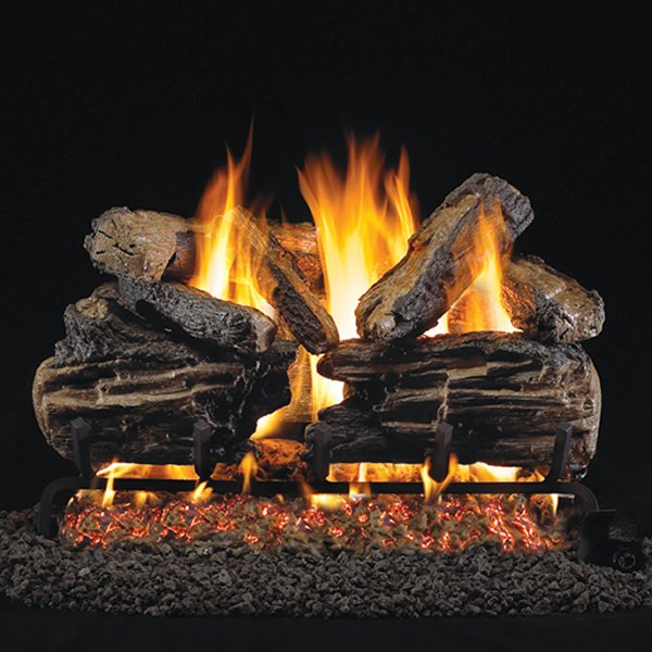 Peterson Real Fyre Charred Split Vented Gas Log Set