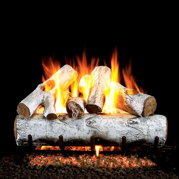 Peterson Real Fyre White Birch Vented Gas Log Set Woodland Direct