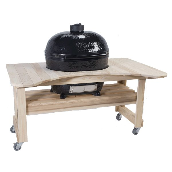 Primo Cypress Table For Oval XL Kamado BBQ Grill | WoodlandDirect.com:  Grilling: Islands U0026 Kitchens