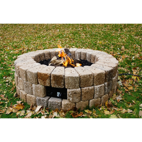 Round Diy Gas Fire Pit Kit 38