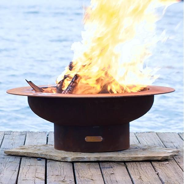 Saturn Wood Burning Fire Pit ... - Saturn Wood Burning Fire Pit|Fire Pit Art WoodlandDirect.com
