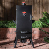 black outdoor smoker