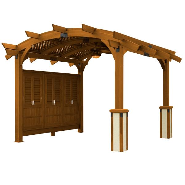 Sonoma Arched Pergola - 12x12 - Redwood | WoodlandDirect com