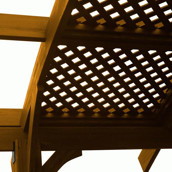 Sonoma Lattice Redwood Roof - 12' x ... - Sonoma Lattice Roof - 12 X 4 - Redwood WoodlandDirect.com: Pergolas