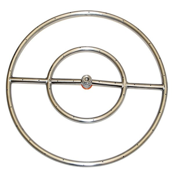 Stainless Steel Round Gas Fire Pit