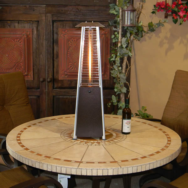 Sunmaster Bonfire Tabletop Gl Propane Patio Heater Bronze Woodlanddirect Heaters
