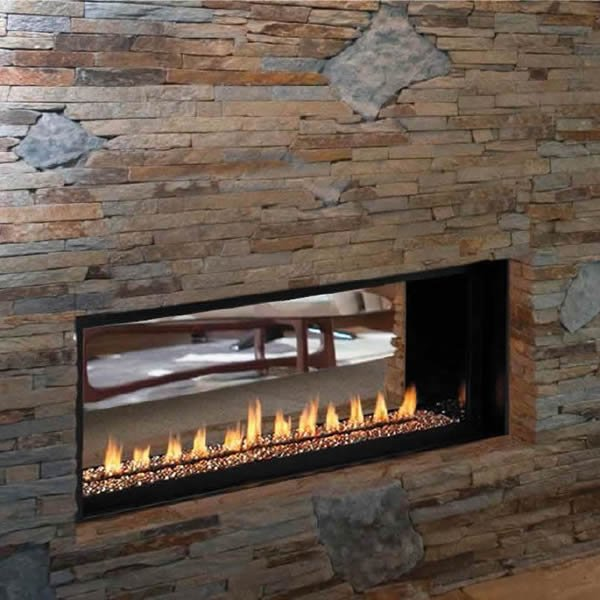 Superior Vrl4543 Ventless See Through Linear Gas Fireplace 43