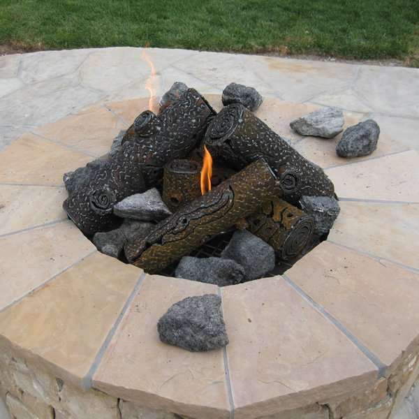 Filter. Fireplace Products: - TimberCraft Metal Art Premium Steel Fire Pit Gas Logs - 29