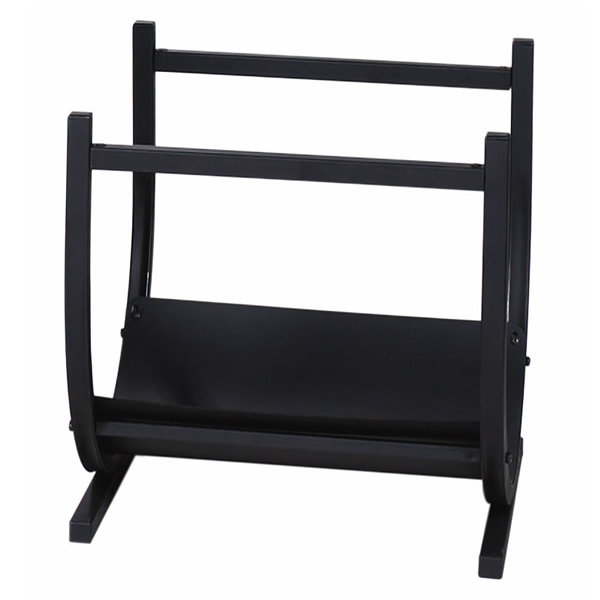 Wrought Iron Indoor Firewood Rack Black Woodlanddirect Racks Uniflame