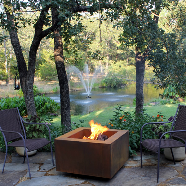 Vesta Fia 30 Wood Burning Fire Pit Woodlanddirect Com Outdoor