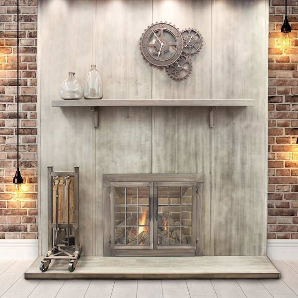 Wayland Steel Fireplace Mantel Shelf Woodlanddirect Com
